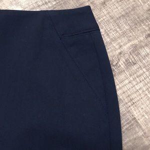 LOFT Navy Pencil Skirt / Suiting Skirt